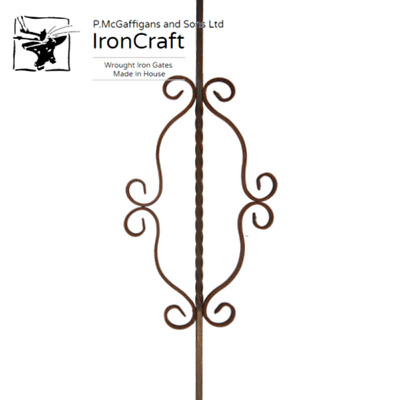 Decorative Wrought Iron Mild Steel Gate Railing Staircase Scroll Panel M22/06