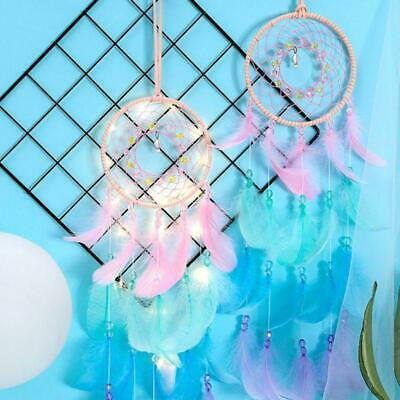 Dream Catcher Net With Feathers Beads Wind Chime Hanging Dreamcatcher Bell Gift