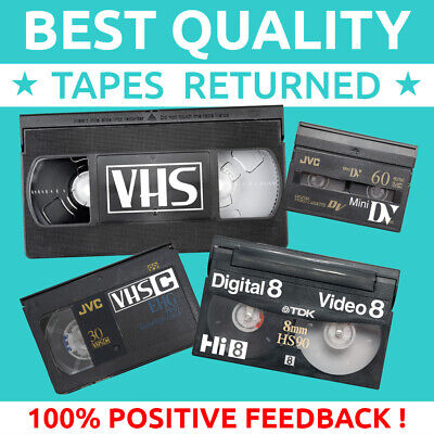 📼VIDEO TAPE to DVD💿 MP4 💾 MOULD CLEAN REPAIR TRANSFER/CONVERT VHS MiniDV Hi 8