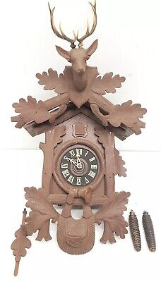 Vintage E.schmeckenbecher German Black Forest Style Cuckoo Clock Large 22 Inch