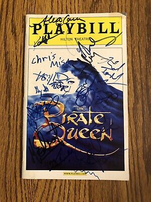 Closing Night Broadway Pirate Queen Signed Playbill NYC 2007