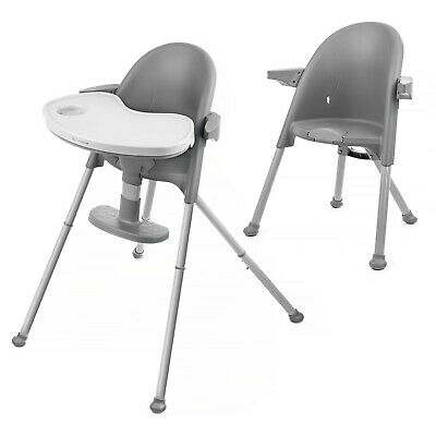Kinderkraft Highchair PINI Baby Chair Ergonomic Easy Folding Easy Clean Gray