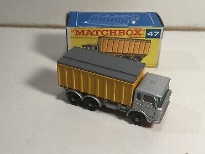 Repro Box Matchbox 1:75 Nr.47 DAF Tipper Container Truck