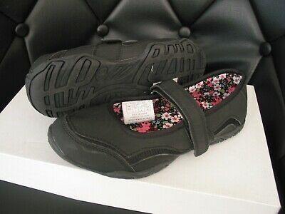 NEW MOUNTAIN WAREHOUSE Girls BLACK SCHOOL SHOES SIZE 3