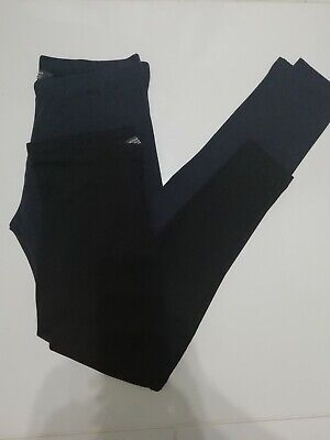 Primark Kids Girls Black & Navy Leggings Ages 7-8  8-9  9-10 10-11 11-12  12-13