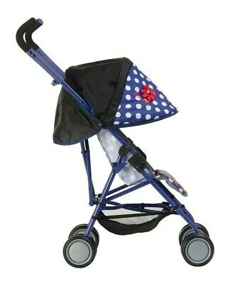 Silver Cross Pop Max Dolls Pushchair - LIMITED EDITION Blue Polka Dot Fabric