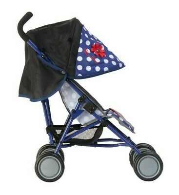 Silver Cross Pop Dolls Pushchair - LIMITED EDITION Blue Polka Dot