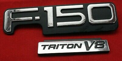 F150  Triton V8 Ford Emblems Decals 97 98 99 00 01 02 03Oem Factory Badge