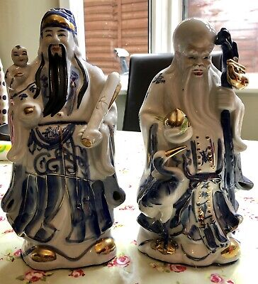 vintage chinese porcelain Figurines X2
