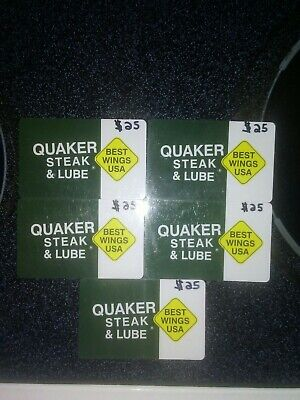 Giftcard Quaker Steak and Lube