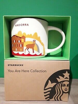 RARE NEW Starbucks Coffee 'You Are Here' City Mug / Cup ANDORRA