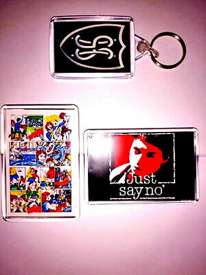 Grange Hill  50 X 35 Mm  Double Sided Key Ring And Two Fridge Magnets   £6 !!!