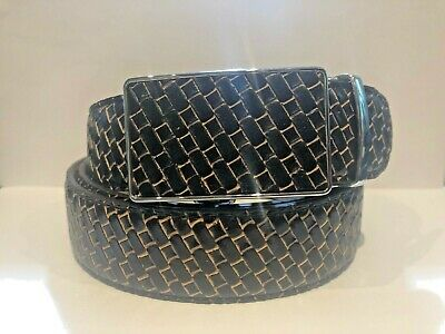 Mens Designer Belts Luxury Brown Check Leather Automatic Ratchet Belt For Men Uk