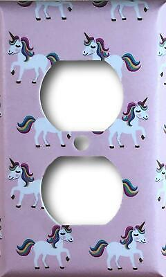 Pink Unicorn Design Decorative Duplex Outlet Cover Wall Plate