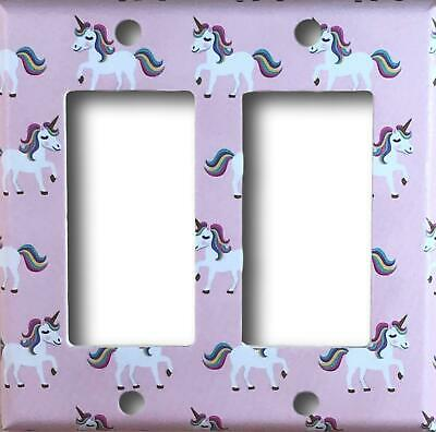 Pink Unicorn Decora / GFCI / Rocker Light Switch or Outlet Cover Wall Plate