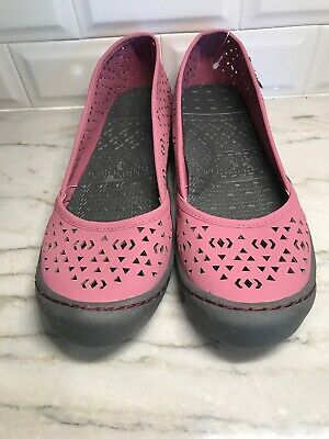 Muk Luks Sport Womens Size 10 Rose Pink Sandy Perforated Casual Comfort Flat