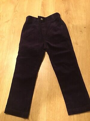Jojo Maman Bebe Purple Girl Cord Trousers Age 3-4