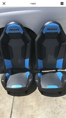 1 Pair Polaris RZR XP1000 WITH CUTOUTS FOR HARNESS Seats BLACK// LIME