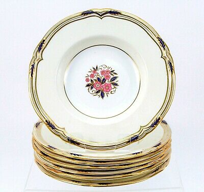 Vintage MINTON TIFFANY & CO. New York, Made in England, Floral Design Soup Bowls