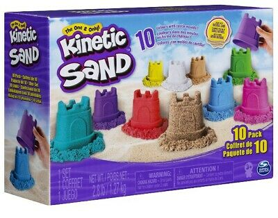 🚛Fast Shipping! {NEW 2019} Kinetic Sand 10 Pack Multi-Color Castle Containers
