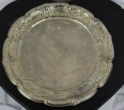 "Small Silver Plated Decorative Serving Dish 8"" Plate"