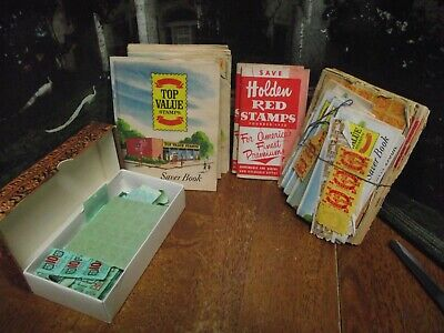 Vintage Big Lot of S & H Green Stamp Books & Stamps Filled, Partial,  And Others