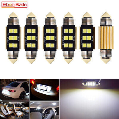 6 x 12V 41MM 6 LED 3030 CANBUS FESTOON CAR UTE 4WD INTERIOR DOME MAP LIGHT BULB
