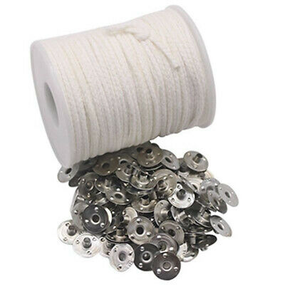 Spool Square Braid Candlestick Sustainer Tabs Cotton Wick Wax Candle Core