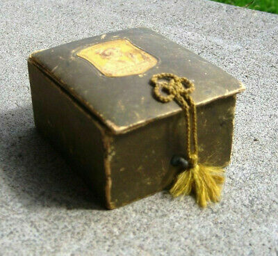 Antique F. Wolff & Sohn Divinia Box with String Perfume Bottle Collectable