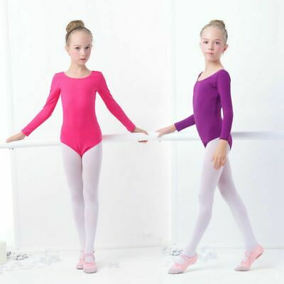 Girls Gymnastics Leotard Ballet Clothes Dance Wear Leotards Purple Bodysuit EB5