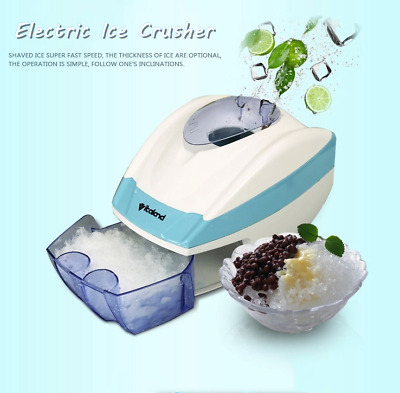 Portable Electric Ice Crusher Plastic Snowflakes Machine Mini Kitchen Appliances