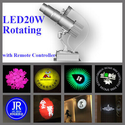 20W Rotating Gobo LED Advertising Logo Projector Laser Light Projection Lamp DIY