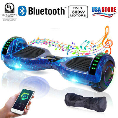 """6.5"""" Hoverboard Bluetooth 2 Wheel Electric Self Balance Scooter with Bag"""