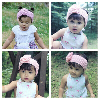 Kid's Knitted Camellia Baby Headband Hair Bands Braided Children Hair Accessory