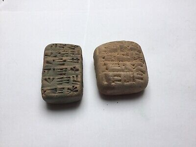Extremely Rare Ancient Near Eastern Clay Tablets X 2Early Form Of Writing 2000Bc