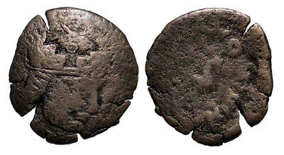 (10565) Ancient Khwarizm AE, The Afrighid dynasty, late 6th C. - AD 995.