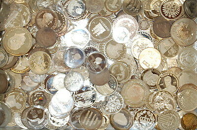 Medals and Few Coins 1kg Fine Silver Germany (Most) Medals Silver