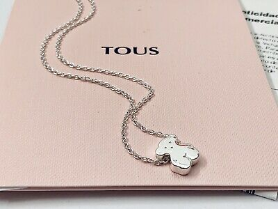 Authentic TOUS Sweet Dolls Bear Silver Necklace