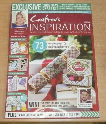 Crafter's Inspiration magazine Issue #24 2019 XMAS Stamp Set, Die, CD-Rom