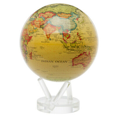 NEW Mova Large Antique Beige Spinning Globe