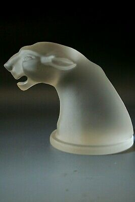 Art Deco  Jaguar Glass Car Mascot - Hood Ornament  .