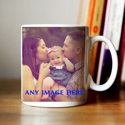 Personalised Photo Mug  Add Any Text Birthday Christmas Valentines Day Present