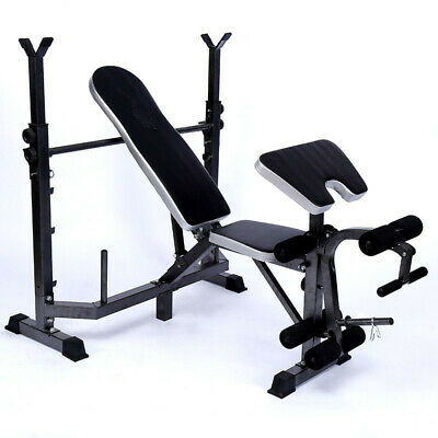 Weight Bench Workout Sit Up Fitness Gym Home Abs Barbell Machine Exercise B
