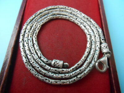 BEAUTIFUL SOLID SILVER VINTAGE ORNATE 24inch CHAIN JEWELLERY NOT SCRAP 24.3gms
