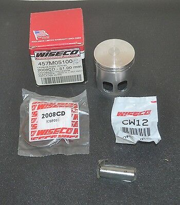 Piston Kit 2.00mm Oversize to 51.00mm For 1998 Suzuki DS80 Offroad Motorcycle