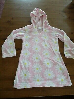 Pink Next Girls Hooded Towelling beach Robe Cover Up 2-3 yrs