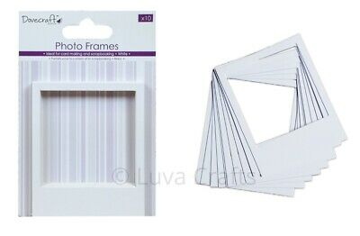 Dovecraft Snapshot-Style White Photo Frames For Scrabooking Cardmaking - Pack 10
