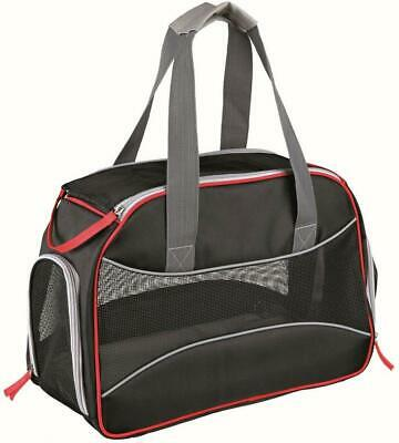 Josh Small Dog Carrier With Reflective Piping | Black & Red