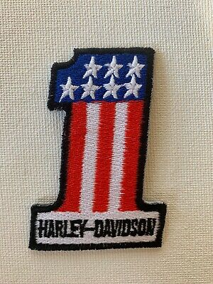 NEW Harley Davidson Classic #1 Logo Patch Sew Iron Motorcycle Bike MADE IN USA