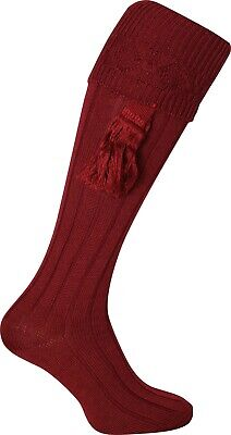 EXTRA LONG GAME SHOOTING BREEK WELLY SOCKS /& GARTERS WITH EMBROIDERED PHEASANT